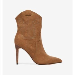 New Express thin heel western ankle boots